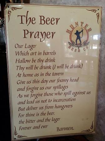 Potters Hotel & Brewery: The beer prayer !