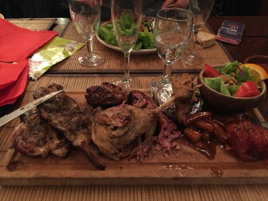 Le Roc du Berger : Assortiment de viande
