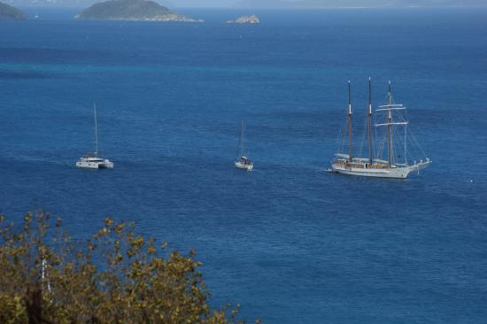 Maho Bay, St. John: Schooner Mystic in Francis Bay