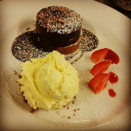 The Oyster Tavern-Our famous warm chocolate fondant
