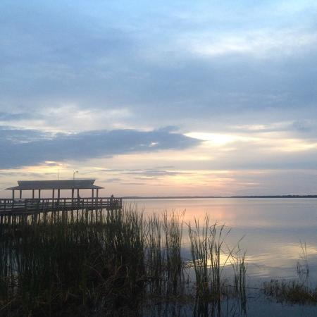 Immokalee, FL: Cloudy sunset Lake Trafford