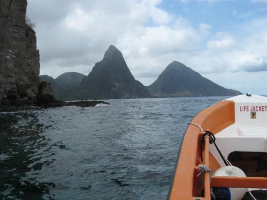 Israel King Water Taxi  Private Tours: The Pitons from Israel King  water taxi