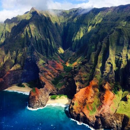 Na Pail Coast: from the helicopter tour (Blue Hawaiian Helicopter tours)