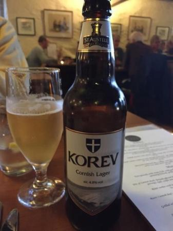 Kota Restaurant : Cornish Lager complimented the meal
