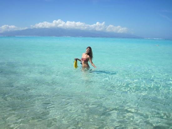 Praia Do Hotel Ilha Do Tahiti Ao Fundo Picture Of Sofitel