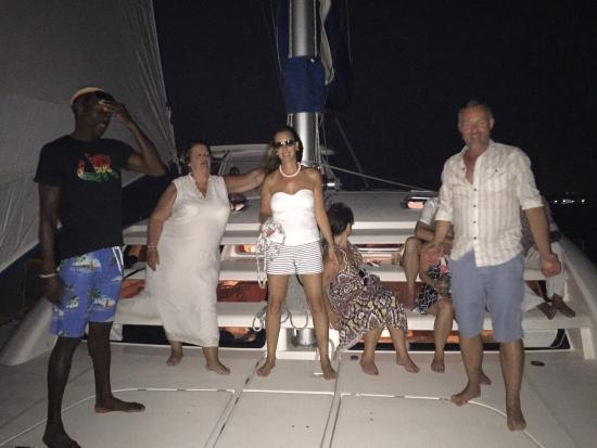 Seaduced Luxury Catamaran: Dancing under the moonlight