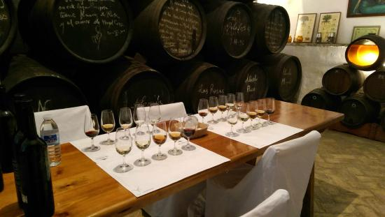 Bodegas Lagar Blanco: Wine Tasting Set-Up