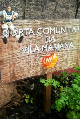 Uvaia Hostel: Billy o astronauta na horta comunitária