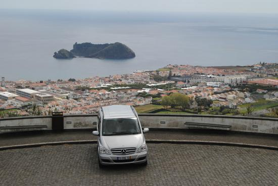 Azorean Tours: My Van at one of the viewpoints shown in my Tours