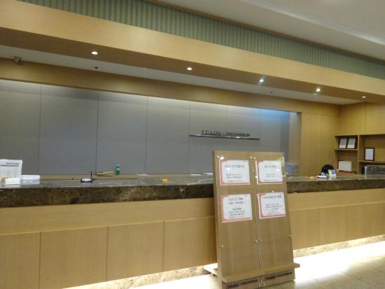 I Park Condominium: Reception counter