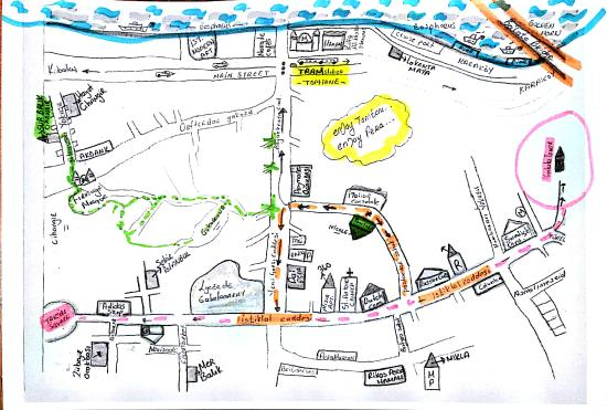 Hand drawn map of Beyoglu Picture of Tomtom Suites Istanbul