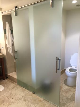 Sliding door between shower & toilet - Picture of Turtle Bay Resort ...