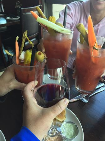 The Waterside Restaurant and Wine Bar: Best Bloody Mary's! My friends love them! Food was great!  The homemade chips were awesome.  Nic