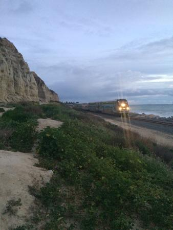 San Clemente State Beach by the train tracks