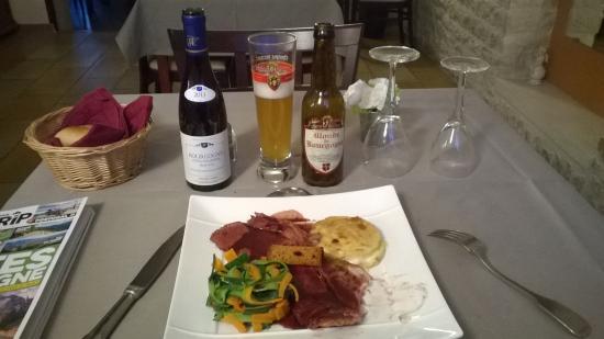 Hotel des Grottes : repas excellent !!!!