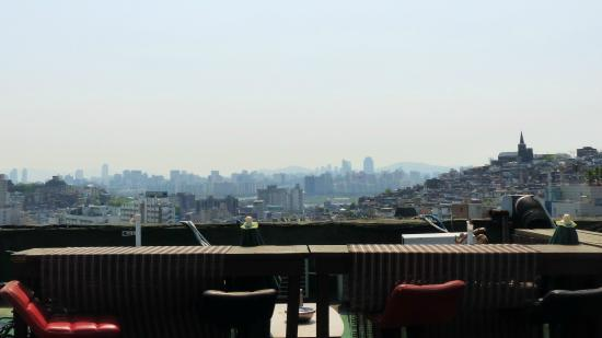 IS@K Traveler's Lounge: The rooftop area for smokers and people who like views