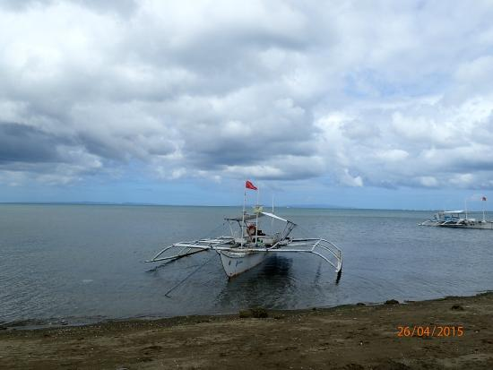 Bicol Dive Center: A boat ready for its trip