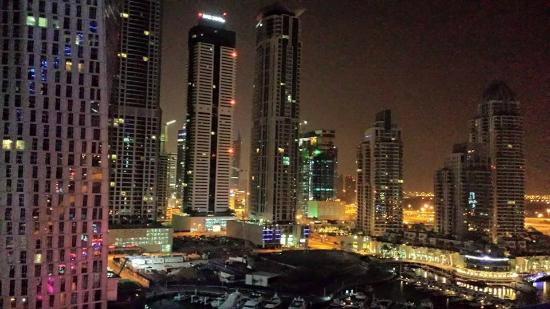Grosvenor House Dubai: View from our balcony at night