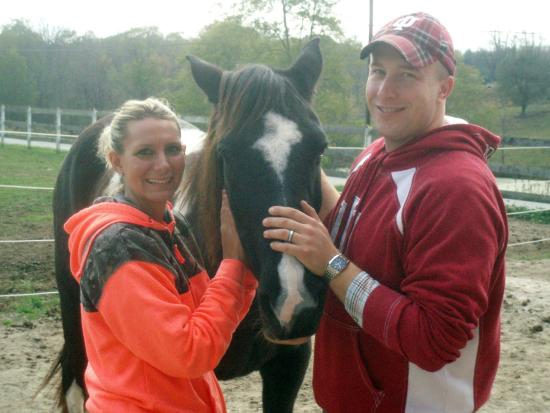 First Farm Inn Horseback Riding: Horse selfies and visiting with the boys are popular.