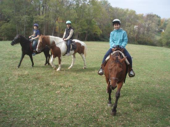First Farm Inn Horseback Riding: Rides are two hours long and include grooming and tacking up while you are getting acquainted.