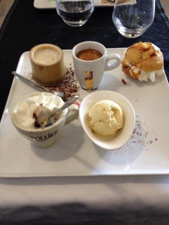 Hotel Restaurant Le Bon Duc: Café gourmand ..