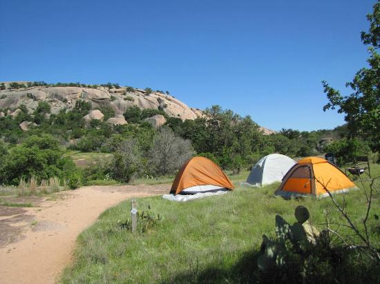 The Moss Lake Cing Site Picture Of Enchanted Rock State: Enchanted Rock State Park Map At Usa Maps