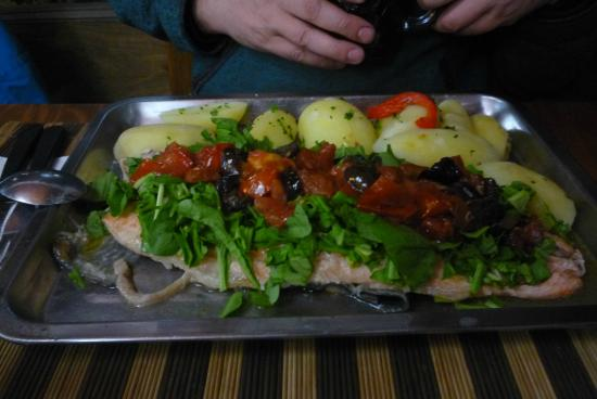 A Punto: Trucha a la mediterránea
