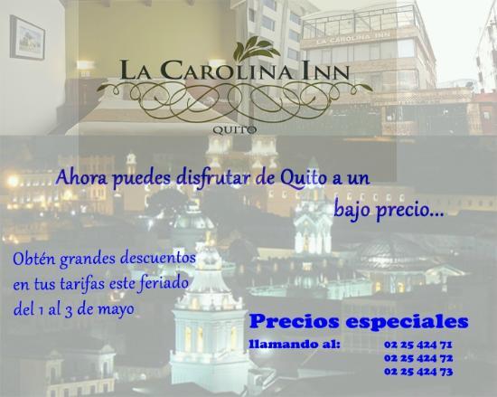 La Carolina Inn: Promocion