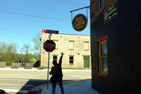 Aurora, IN: Entrance to Brewery