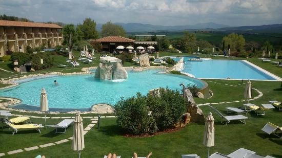 hotel adler thermae spa relax resort dal balcone della camera di pomeriggio