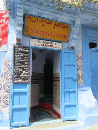 Restaurant granada  chefchaouen : Puerta de entrada
