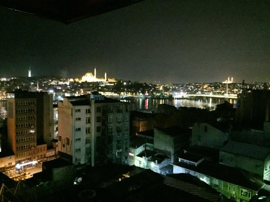 Galata La Bella Hotel : View from the restaurant (roof, 6th. floor)