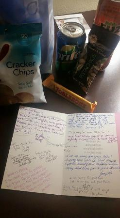 Sympathy card signed by Hampton staff