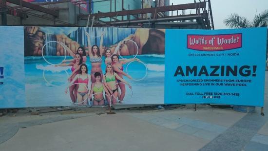 Noida, India: Water ballet