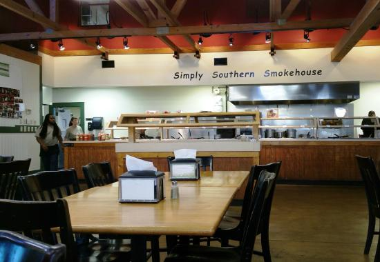 Lovely Simply Southern Smokehouse: Inside Restaurant