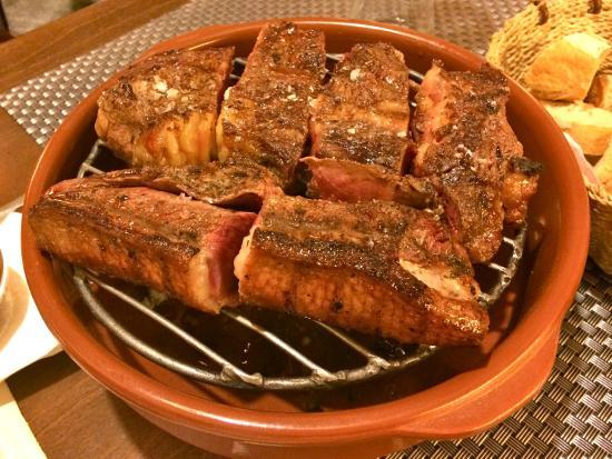 Novillo argentino y magret de pato al Calvados.