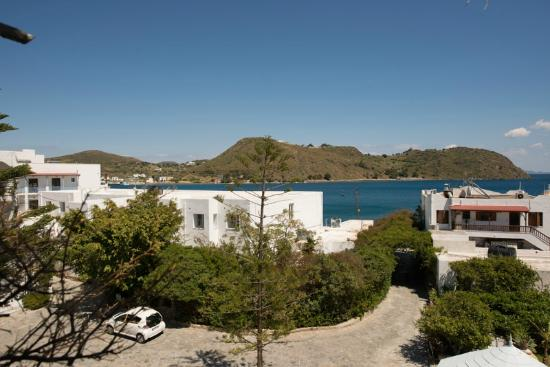 Skala Hotel: From my room overlooking the entrance
