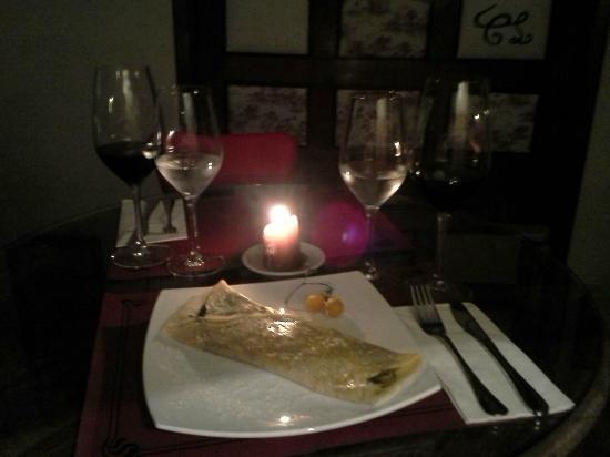Nuestra hamburguesa picture of casa lola ponteareas - Cena romantica a casa ...