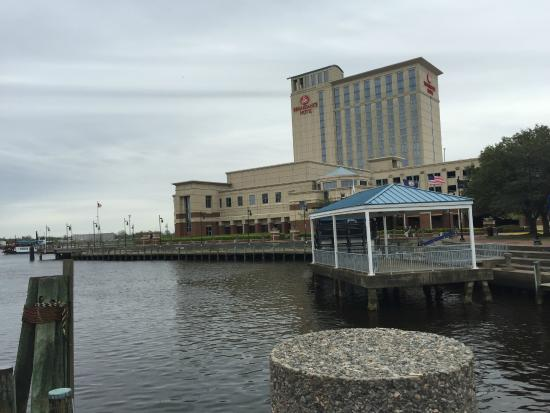 Renaissance Portsmouth Norfolk Waterfront Hotel View Of From Shuttle Boat