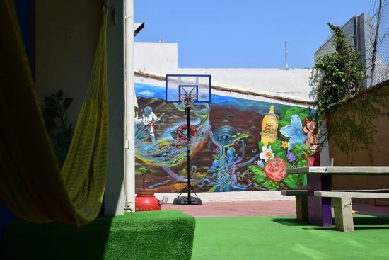 Blue Pepper Hostel: Tranquilidad en el patio + Basket = PERFECCION