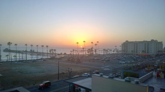 Sunset over the pier..from our balcony!