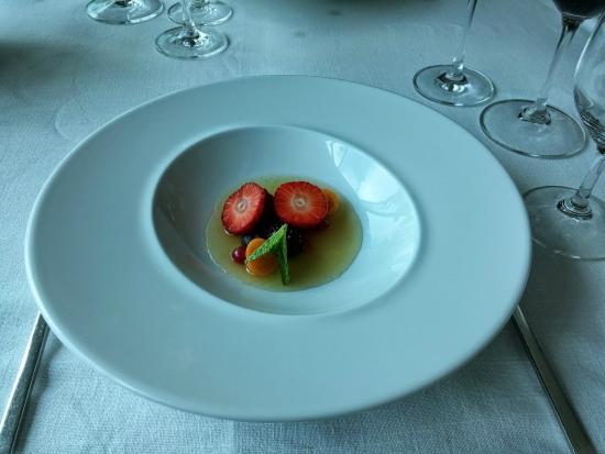 Dessert - Eucalyptus Soup and Fruit