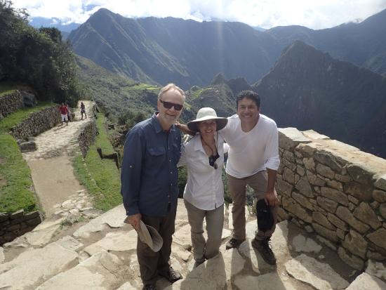 Peru Adventures Paradise Private Day Tours : Us with Hernan Hermoza at the Sun Gate