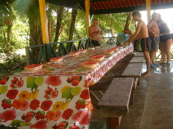 Bastimentos National Park : LUNCH AT THE PARK ON CAYO ZAPATILLA
