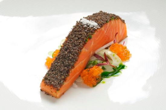 Tetsuya's: Confit of Petuna Ocean Trout with a salad of Fennel & Unpasteurised Ocean Trout Roe