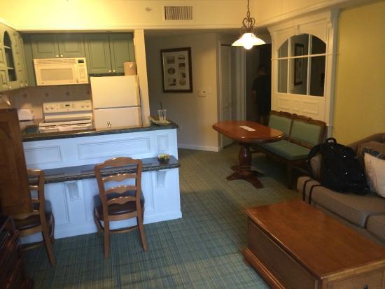 Living Room/ Kitchen - Picture of Disney\'s Saratoga Springs Resort ...