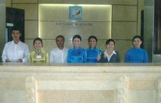 Dong An Beach Resort: These women were the staff members of the hotel when I was there.