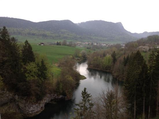 Vallorbe, Switzerland: Vue depuis le viaduc du Day