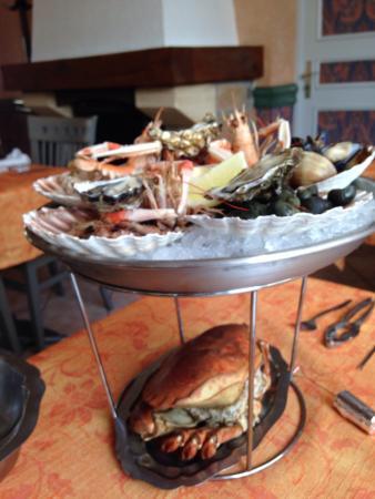 Restaurant l'Escale : Le plateau de fruits de mer