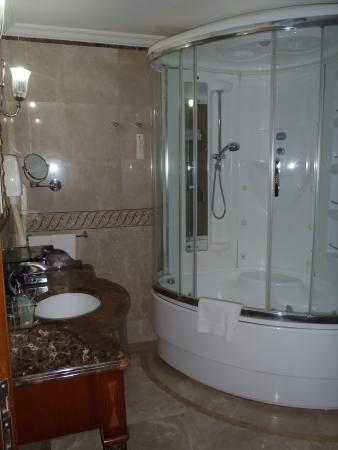 The Central Palace Hotel: Great shower/spa bath. Ask for a step if needed.
